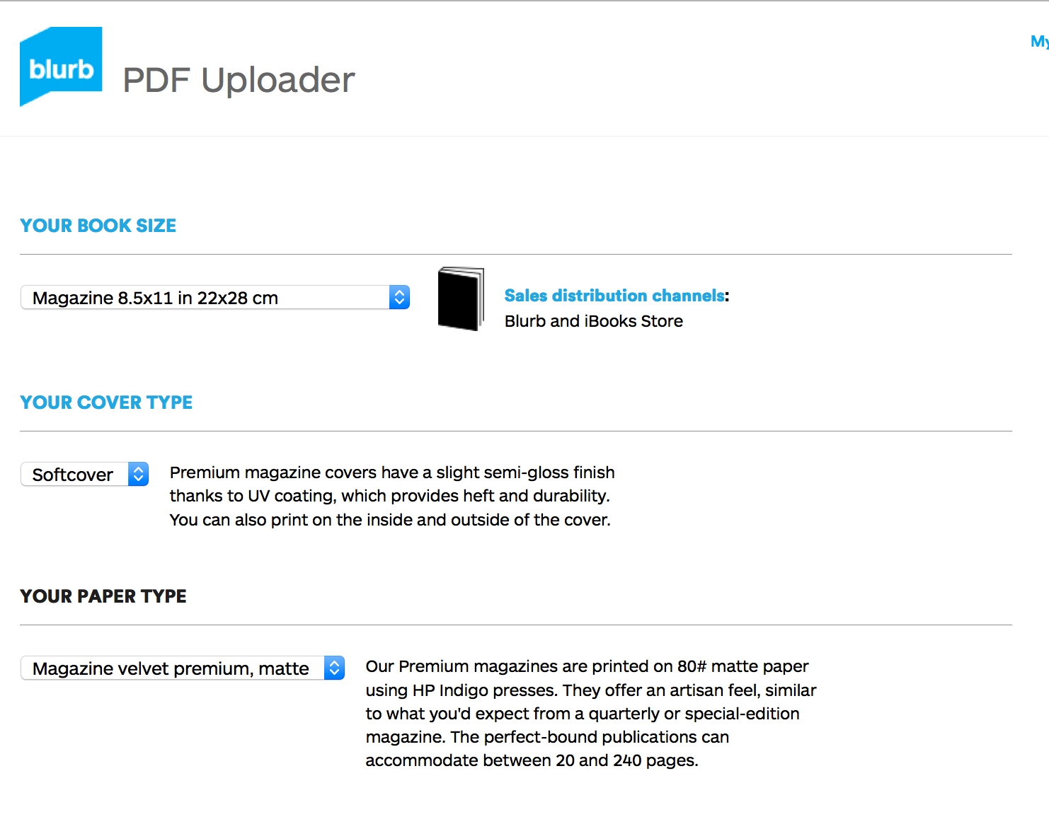 have a pdf just upload and publish blurb blog