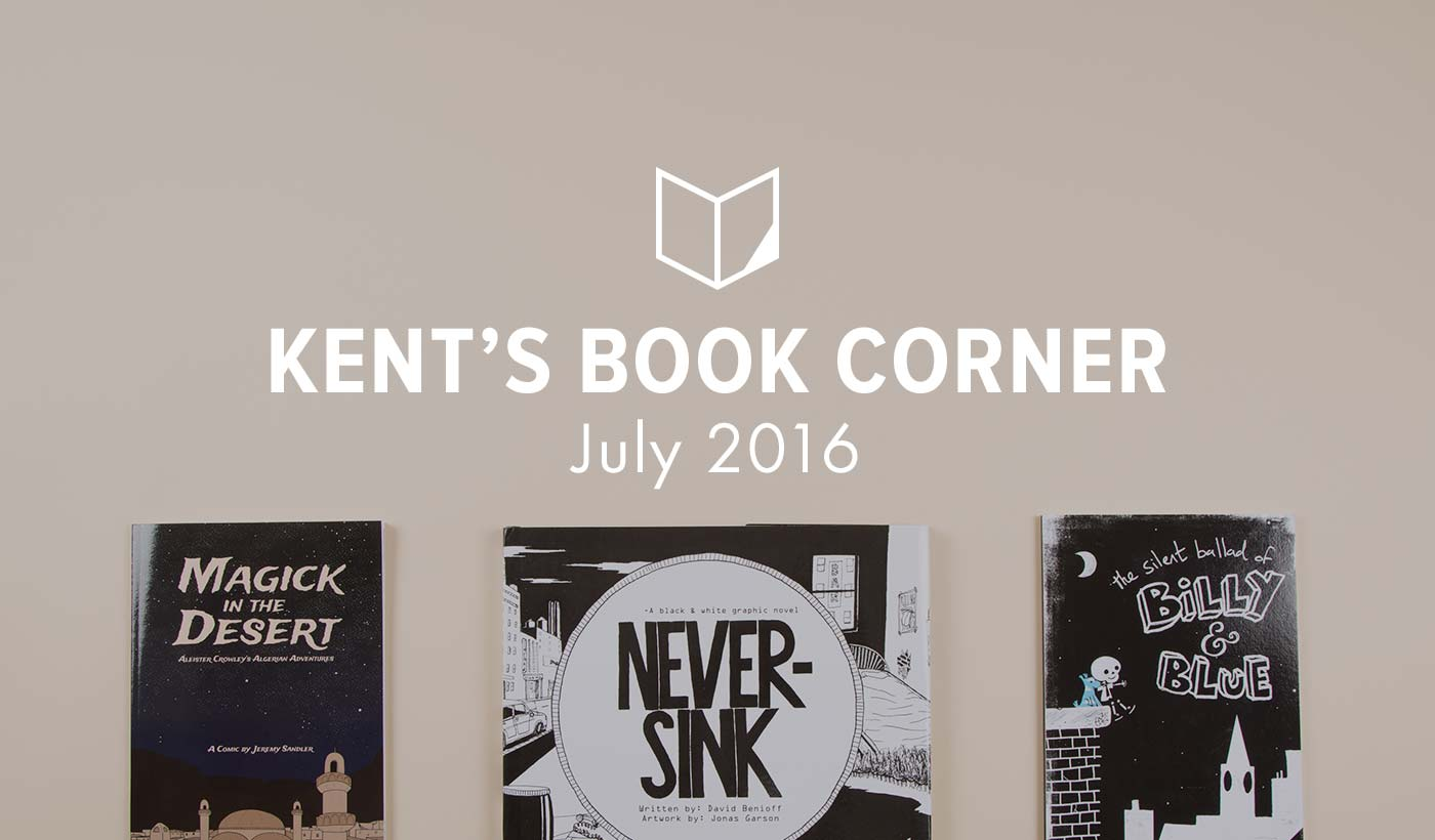 Kent's Book Corner: Books in (Mostly) Black and White