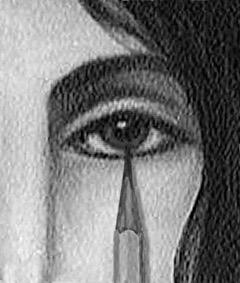 Poke My Eye Out Portrait Art by Liz Amini-Holmes, Book Illustrator