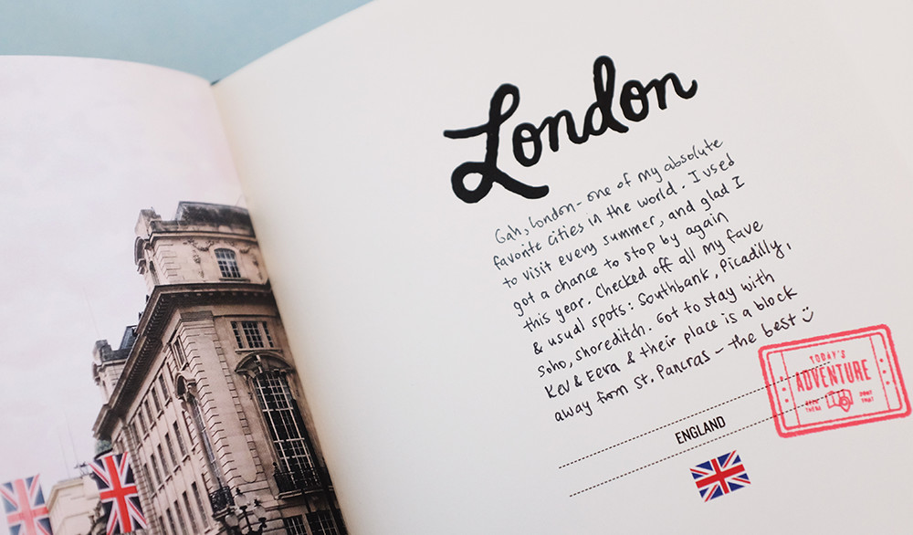 Add stamps to your travel book