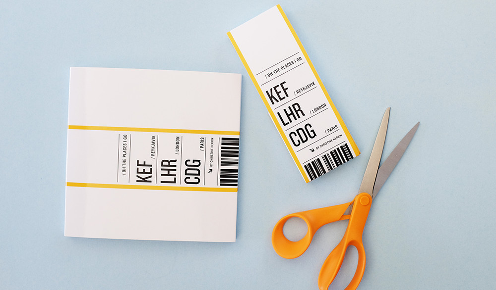 Stick tickets in to your travel book