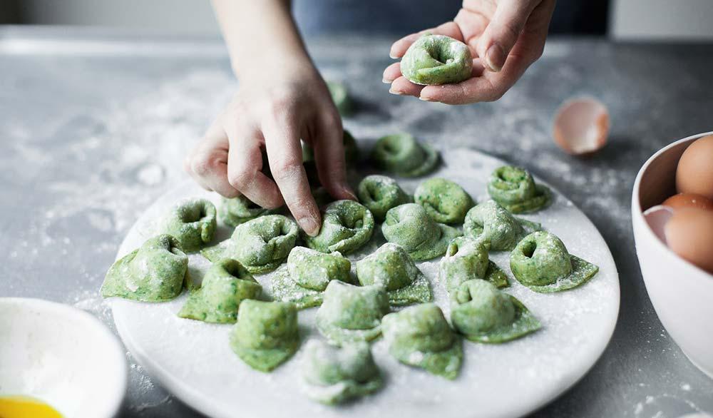 Handmade Green Tortellini