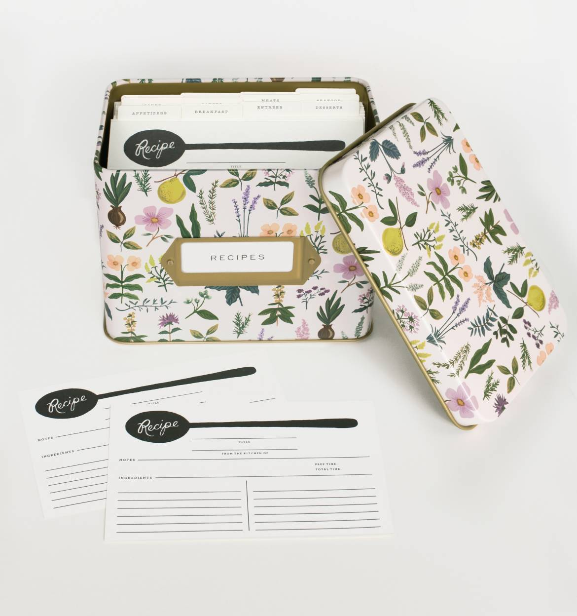 Gift idea for foodies: Recipe Box and Blank Recipe Cards