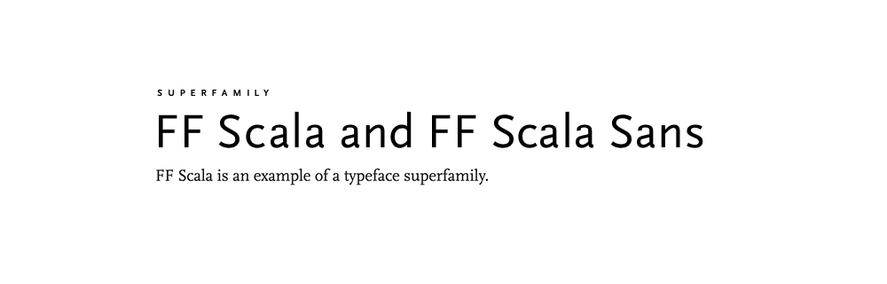 A typeface is a family of fonts