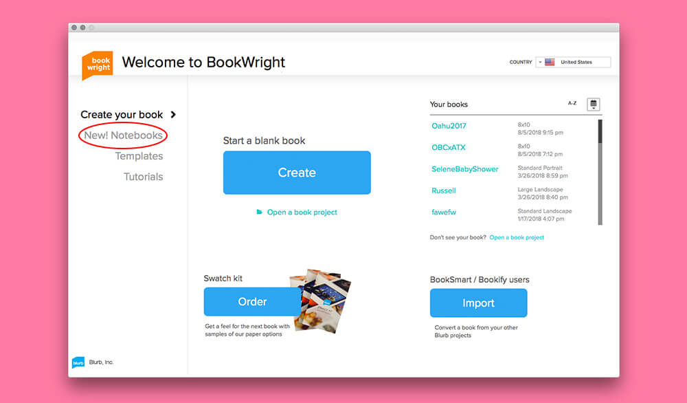 Step 1: Launch BookWright