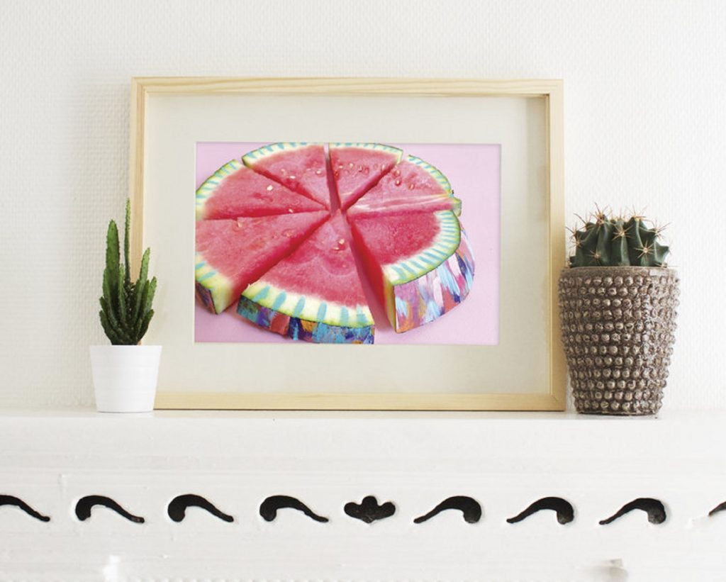 EttaVee Colorful Watermelon Painting