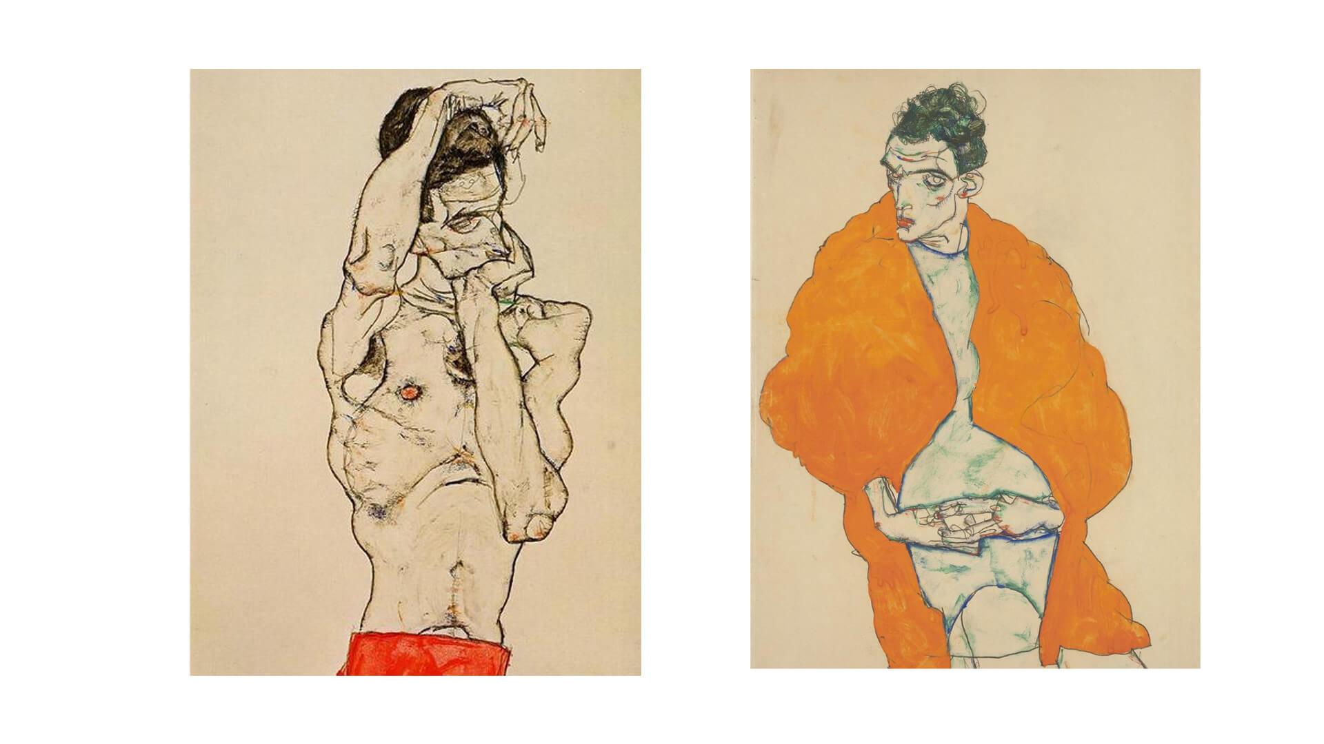 Artwork by Egon Schiele