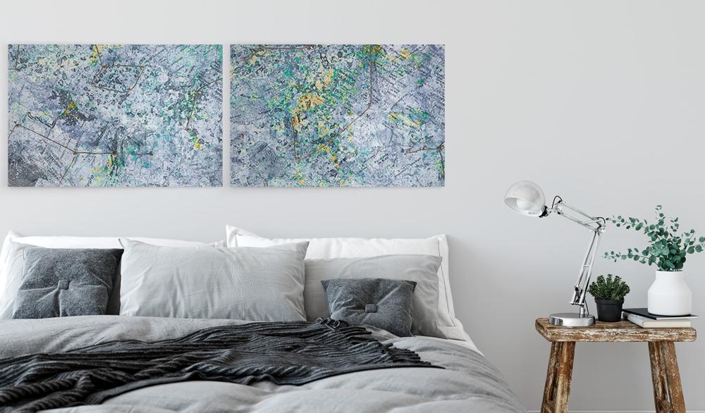 Bedroom Wall Décor Idea: Map Art