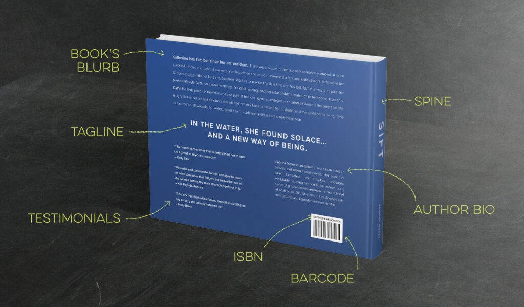 Elements of a book back cover