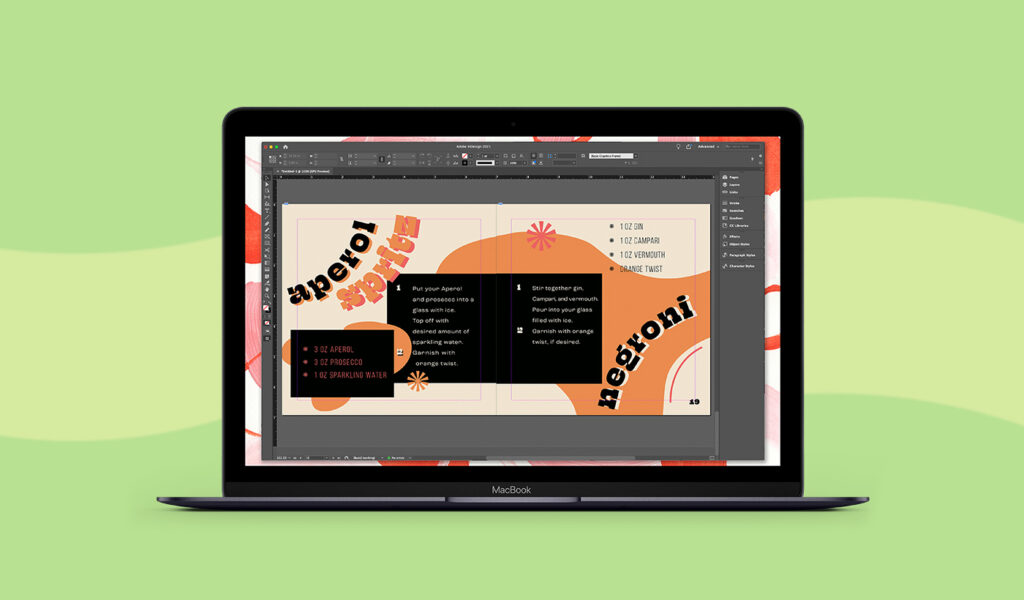 Inscreen image of the Adobe InDesign plugin