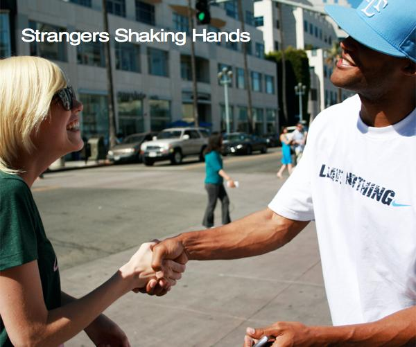 View Strangers Shaking Hands by Misha Maynerick