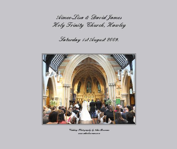 Click to preview Aimee-Lisa & David James Holy Trinity Church, Hawley photo book