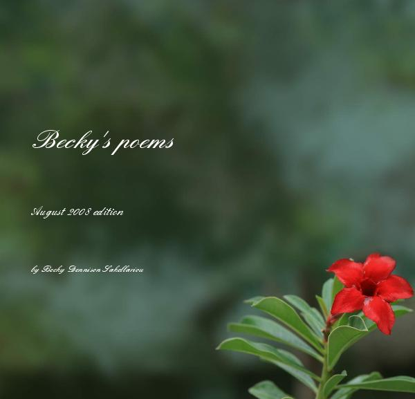 Click to preview Becky's poems photo book
