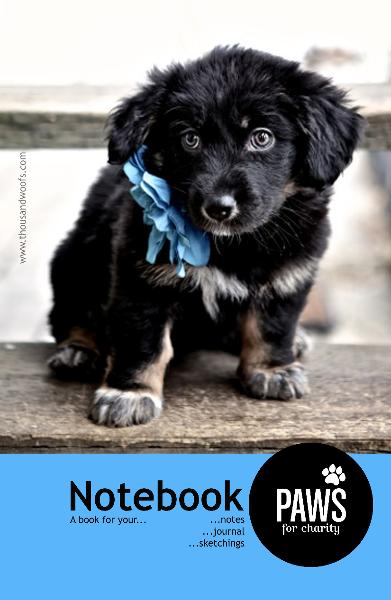 View Paws For Charity Notebook by Sara Harley
