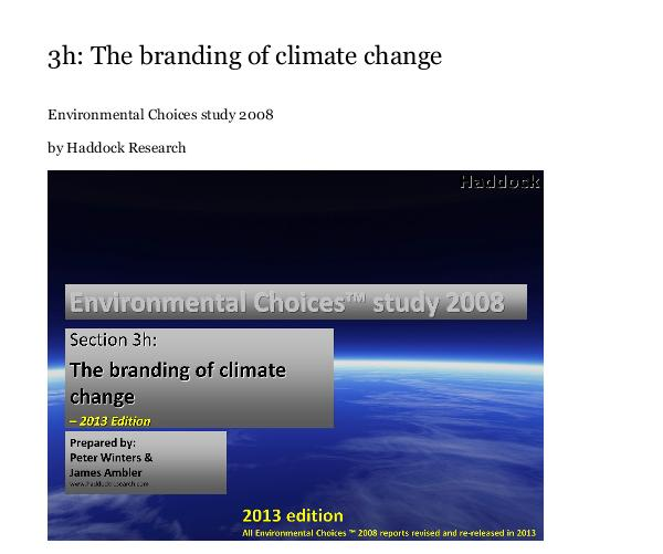 Click to preview 3h: The branding of climate change photo book