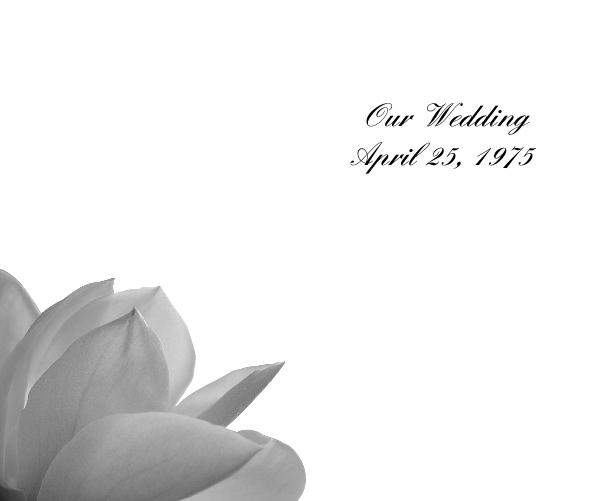 Click to preview Our Wedding April 25, 1975 photo book