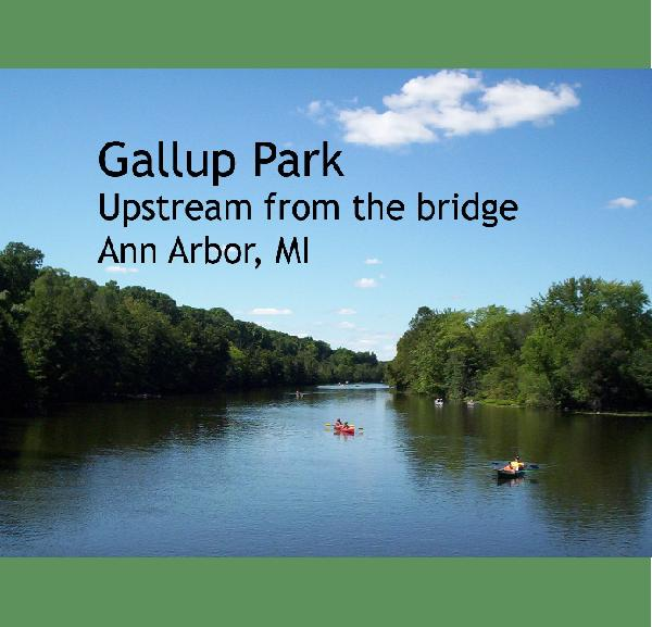 View Gallup Park - Upstream from the bridge by Nigel Holes