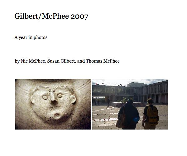 Cover of our 2007 Year in Photos book on Blurb