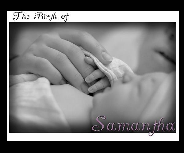 Click to zoom The Birth of Samantha photo book cover