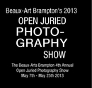 Beaux-Art Brampton's 2013 OPEN JURIED PHOTO- GRAPHY SHOW - photo book