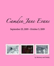 Camden Jane Evans September 25, 2009 - October 5, 2009 - photo book